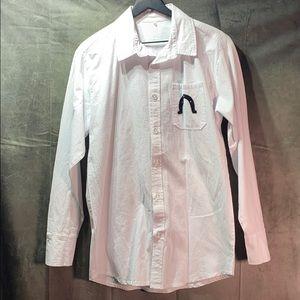 Unusual embroidered vintage dress shirt
